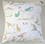 "16"" Cushion Cover in Rainbow Unicorn Print"